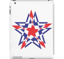 STAR WORLD RED BLUE / WHITE KNOCKOUT iPad Case/Skin