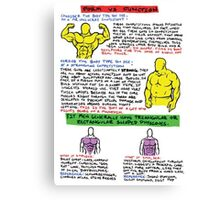 Form vs Function Infographic Canvas Print