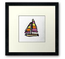 Lil Boat Framed Print