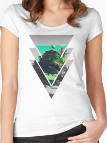 Howls Moving Castle- Studio ghibli Women's Fitted Scoop T-Shirt