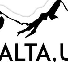 ALTA UTAH MOUNTAINS SKIING SKI HIKING BIKING CLIMBING Sticker