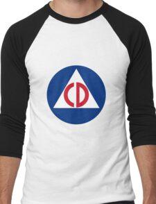 Civil Defense Men's Baseball ¾ T-Shirt