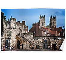 Bootham Bar Gate and York Minster Poster