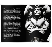 Frank Zane Diet Advice Poster