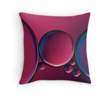 Oil and water (bubbles) Throw Pillow