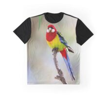 Eatern Rosella and Gum leaves Graphic T-Shirt