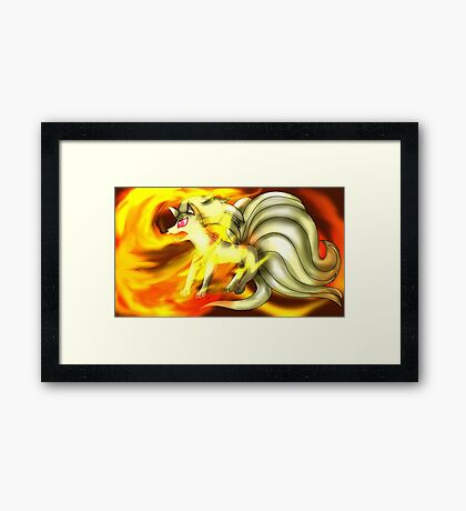The Flaming Beauty, Ninetails Framed Print