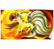 The Flaming Beauty, Ninetails Poster