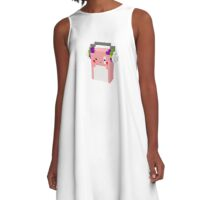 Rock on with Pink bean A-Line Dress