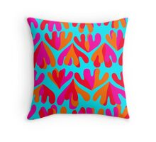 HEARTIC triple lovely hearts ♡♡♡ Throw Pillow