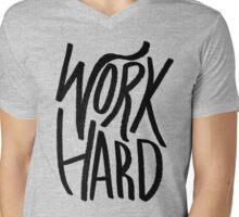 Work Hard (Color) Mens V-Neck T-Shirt