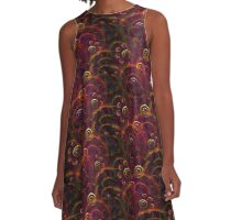 Artistic Abstract Multicolored A-Line Dress