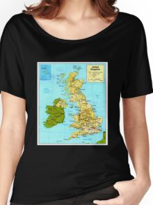 UNITED KINGDOM (MAP) Women's Relaxed Fit T-Shirt