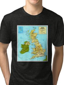 UNITED KINGDOM (MAP) Tri-blend T-Shirt