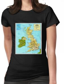 UNITED KINGDOM (MAP) Womens Fitted T-Shirt