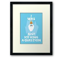 Adventure Time Ice King Framed Print