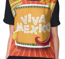 Viva Mexico design Chiffon Top