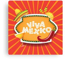 Viva Mexico design Canvas Print