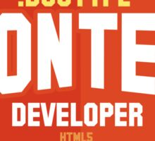 front end developer html5 Sticker