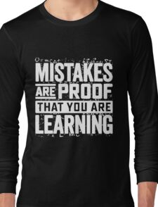 learning mistakes Long Sleeve T-Shirt