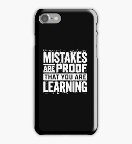 learning mistakes iPhone Case/Skin