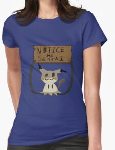 Mimikyu - Notice me senpai Womens Fitted T-Shirt