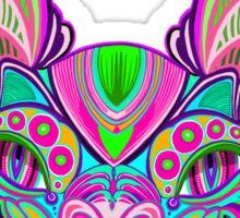Psychedelic Bat Sticker