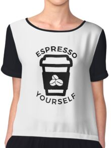 Espresso Yourself! Chiffon Top