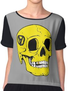 Libertarian Voluntaryism Skull Anarcho Chiffon Top