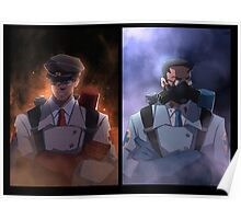 Team Fortress 2 Red and Blu Medic Poster Poster