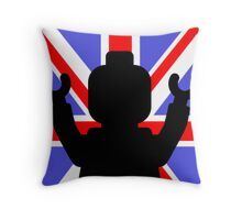 Minifig Union Jack Throw Pillow