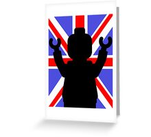 Minifig Union Jack Greeting Card