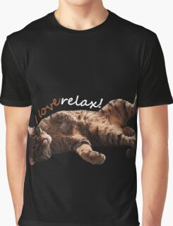 I LOVE RELAX!! Cat journey. Graphic T-Shirt