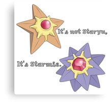 It's Not Staryu Canvas Print