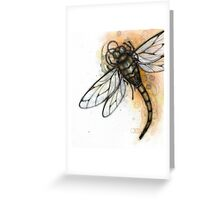 Masked Dragonfly Greeting Card