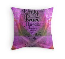 Harmony Serenity Unity Peace Throw Pillow