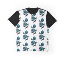Blue flower Graphic T-Shirt