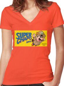 Super Chapo Bros Women's Fitted V-Neck T-Shirt