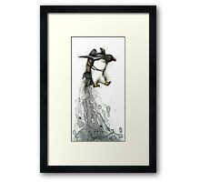 Rocket Penguin Framed Print
