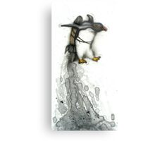 Rocket Penguin Metal Print