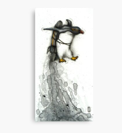 Rocket Penguin Canvas Print