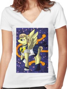 Pony of Wind Women's Fitted V-Neck T-Shirt