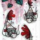 Three Samurai Fish by Kaitlin Beckett