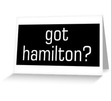 hamilton Greeting Card