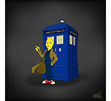 Doctor Lemongrab (Adventure Time + Doctor Who) Photographic Print