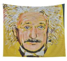 ALBERT EINSTEIN MURAL Wall Tapestry