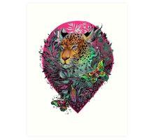 Rainbow jaguar Art Print