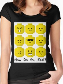 'How Do You Feel?' by Customize My Minifig  Women's Fitted Scoop T-Shirt
