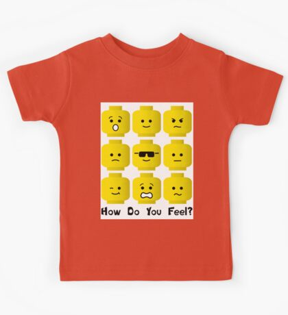 'How Do You Feel?' by Customize My Minifig  Kids Tee