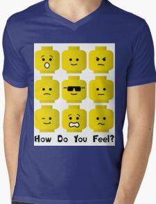 'How Do You Feel?' by Customize My Minifig  Mens V-Neck T-Shirt